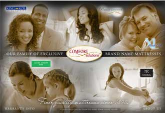Comfort Solutions' revamped Web site features individual presentations for each of the bedding major's brands.