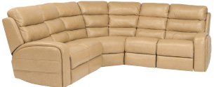 Flexsteel's Elliot sectional includes a clean contemporary design and styling details on the arms.