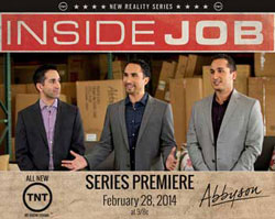 "Brothers Doddy, left, Yavar and Rodd Rafieha of Abbyson Living will be featured on the new ""Inside Job"" show on TNT."