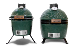The Big Green Egg MiniMax is the same height as the Mini model but offers a larger cooking area.