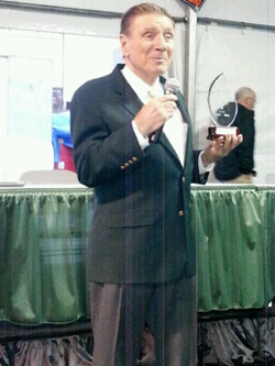 Ed Fisher, founder of Big Green Egg, received the Donna H. Myers Barbecue Leadership Award at the HPB Expo last week in Salt Lake City.