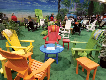 Nationwide dipped its toe into the outdoor furniture category with a colorful offering from C.R. Plastic & Nationwide PrimeTime show draws 4300 | Furniture Today