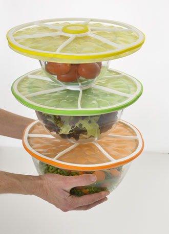 Citrus Stacking Lids from Charles Viancin
