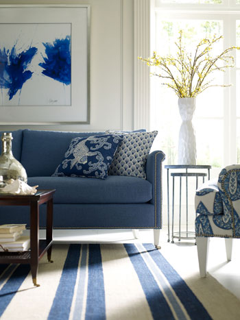 Barclay Butera S Collection For Highland House Includes The Lombard Sofa Ingrid Tail Table And Greer