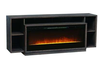 As part of Buhler's Midtown collection, the Britton features a front set 50-inch landscape fireplace. It is available in three finishes, including Buhler's new finish, Claymore Oak. Suggested retail is $2,300.