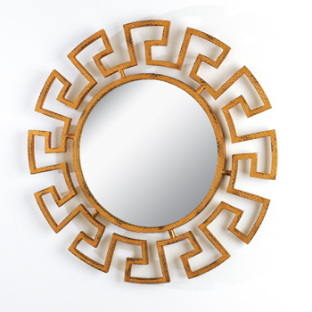Global Views Greek key mirror