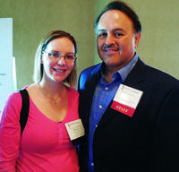Mandy Jeffries, Left, Colfax Furniture, Greensboro, N.C., And Pete Morone,  Myriad Software.