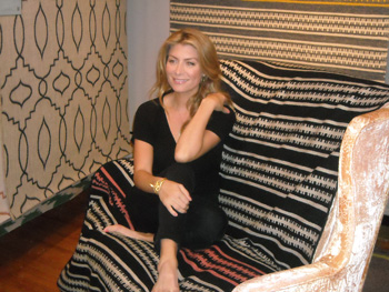 Genevieve Gorder Takes Part In A Photoshoot At Capel Rugs