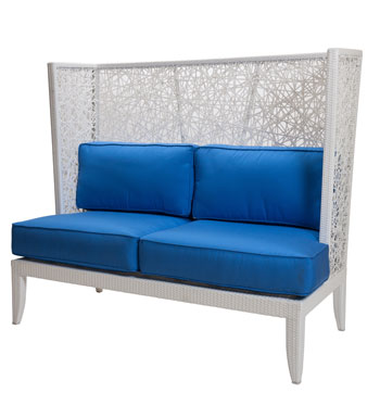 David Francis Mykonos love seat