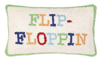 Flip Flop pillow from Peking Handicraft