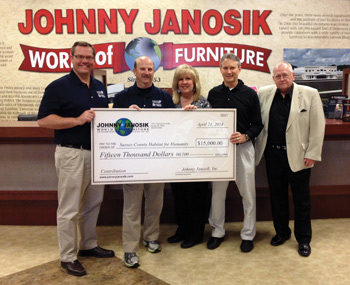 Johnny Janosik Contributes 15 000 To Habitat For Humanity Furniture Today