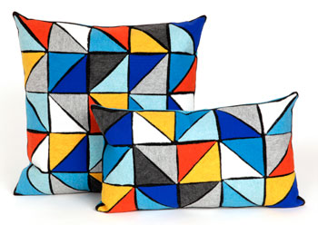 Trans-Ocean Triangles pillow