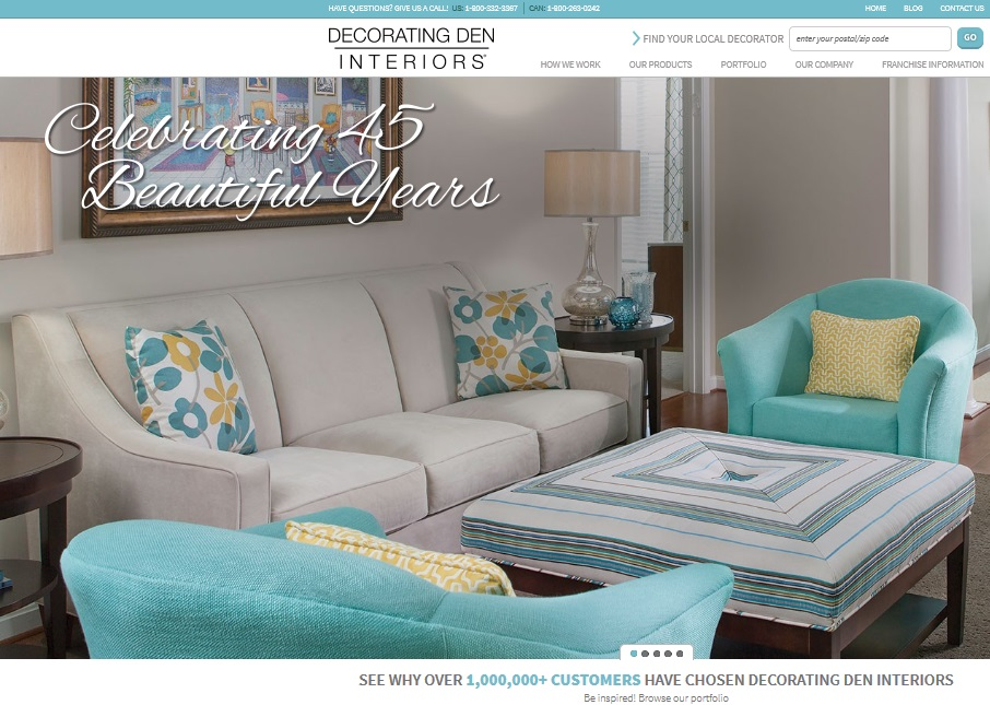 Decorating den interiors launches new website home for Decorating den interiors