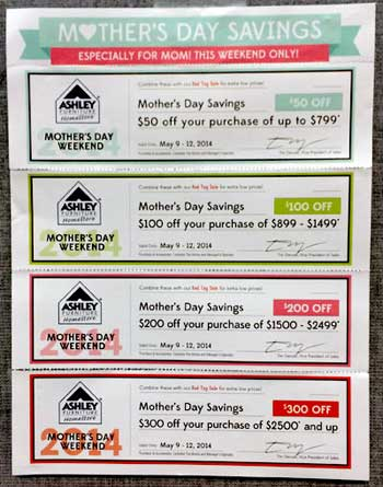Ashley's Mother's Day promotion