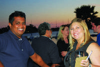 Gopi Krishna Reddy Of Orchids And Jamie Bernal Of Jonathons Coastal Living  In California.