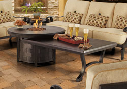 Pride fire pit side table