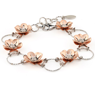 Peonies bracelet from Frederic Duclos