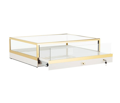 Glass Portable Countertop Jewelry Case With A 5 High Glass Display Quotes