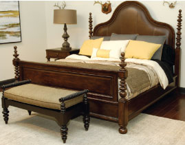 Merveilleux This Wood Trim, Four Poster Leather Panel Bed Is Part Of The Latest Ernest  Hemingway
