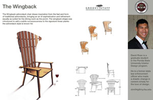 David Roan's Wingback chair