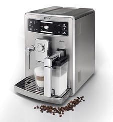 The Xelsis espresso maker from Saeco is designed with the milk container on the outside. saeco-usa.com