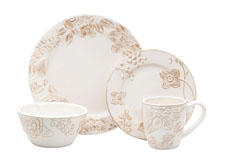 The casually sophisticated Donna Karan Lenox collection included dinnerware, flatware and glassware. lenox.com