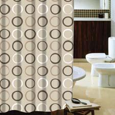 The new Terrell collection includes an acrylic plush rug with a matching shower curtain and bath accessories.