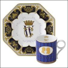 Commemorative pieces from Royal Crown Derby, left, and Wedgwood