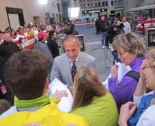 Matt Lauer with PrimaLoft executives