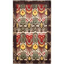 The Bergama ikat collection from Safavieh is a group of handtufted, 100 percent wool ikats. safavieh.com