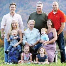 The Oates family, owners of Manual Woodworkers