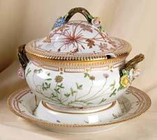 Flora Danica tureen.  replacements.com