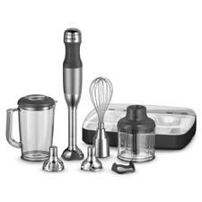 With an array of accessories, the 5-Speed KitchenAid Hand Blender is a multipurpose kitchen. kitchenaid.com