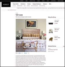 The site will highlight new trends, such as Tuft Love, which talks about the resurgence of tufted products.  gilt.com/home