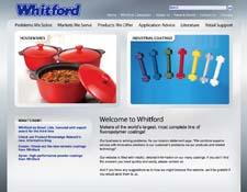 Whitford's new company site