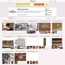 Mohawk Home's Pinterest page