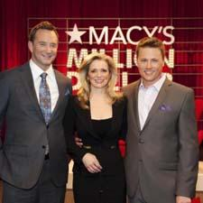 Clinton Kelly and Macy's Chief Marketing Officer Martine Reardon with winner Dylan Gold