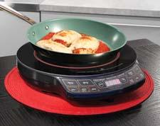 The NuWave Precision Induction Cooktop can be used with the PerfectGreen Fry Pan.