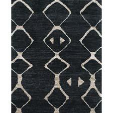 Hand knotted in pure bamboo silk, the African-inspired patterns of the Mambasa collection, shown here in pattern 7087. feizy.com
