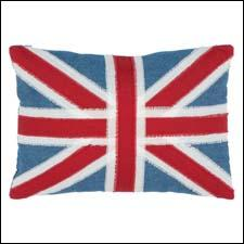 Safavieh Union Jack decorative pillow