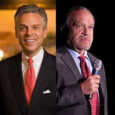 Jon Huntsman, left, and Robert Reich