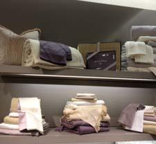 A display at the Sferra popup shop at Saks