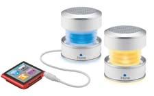 The iHM62 Rechargeable Color Changing Mini Speakers