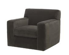 While it has the look of a comfy club chair that stays put, the Bruno swivel chair sits on a swivel base. gilt.com/home