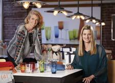 Part of the team behind Mark and Graham: Marta Benson, senior VP, left, and Laura Alber, president and CEO, Williams-Sonoma, Inc
