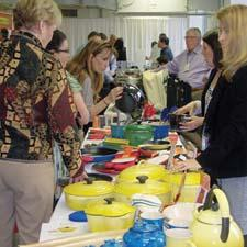 Le Creuset displays its wares during the Showcase. lecreuset.com