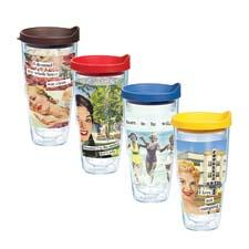 Tervis debuted the Anne Taintor collection, the result of a new license agreement. tervis.com