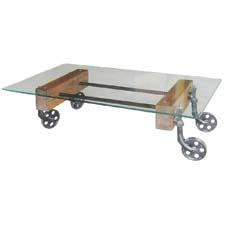 The Glass Cart Coffee Table will be introduced at the Las Vegas Market. fourhands.com