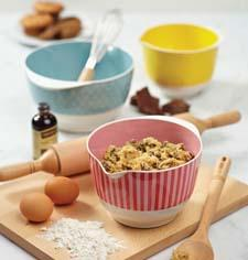 The extensive collection includes colorful mixing bowls. meyer.com