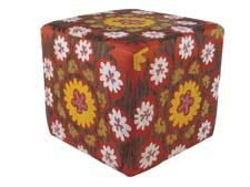 Momeni offers four groups of poufs, which include kilim and suzani designs, and indoor/outdoor options. momeni.com
